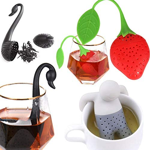 3 Pack Tea Infuser Filter Stainless Steel Tea Ball Strainer Cute Ultra Fine Mesh Stainless Steel product image