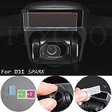 Flycoo 2 × Films pour DÉTECTION 3D + 2 × Films pour Caméra Lens pour DJI Spark Drone en Fibre de Verre Anti-Rayures