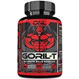 GORIL-T Men's Test Booster (60 Tablets) Boost Energy, Strength, Metabolism, Increase T-Levels - Promotes Healthy Weight Loss - All Natural Male Performance Supplement