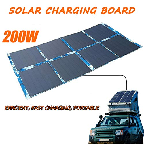 GWP 200W Portable Foldable Solar Panel Outdoor Camping Solar Powered Panel for Camper, Motorhome Rallies, Mobile Offices 12V System