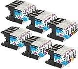 INK INSPIRATION® Reemplazo para Brother LC1280XL LC1240XL 30 Cartuchos de Tinta Compatible con Brother MFC-J430W MFC-J5910DW MFC-J6510DW MFC-J6910DW MFC-J825DW MFC-J625DW DCP-J925DW DCP-J725DW J525W