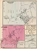 Historic Map : 1873 Bellport, East Moriches, Moriches, Manorville, in Brookhaven. Long Island. - Vintage Wall Art - 44in x 57in