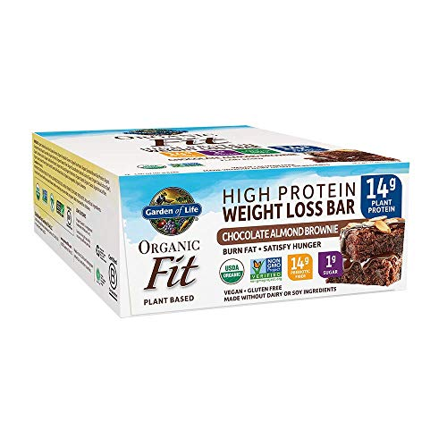 Garden of Life Organic Fit Bar Chocolate Almond Brownie, 12 Count per box, 23.3 Ounce