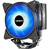 upHere AC12BE, CPU Kühler mit 4 Heatpipes, Prozessorlüfter für Intel und AMD CPUs, 120mm PWM Lüfter, Blau LED