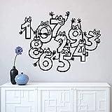 Diy Pegatinas De Pared Pegatinas Creativas Carteles Para Niños Paredes De Dormitorio De Casa Personal 42X28Cm