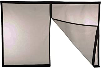Magnetic Garage Door Screen - Single 8'x7' (1 car) Sized Screens (Double Car Also Available) - 60g Fiberglass Mesh - Stronger 1,400gs High Energy Magnets - Weighted Bottom - Black