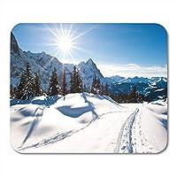 傷を防ぐのに便利だマウスパッドラバーミニ長方形風景グリンデルヴァルトの上のパノラマ風景スイスの冬傷を防ぐのに便利だマウスパッドスムーズゲーミングノートブックコンピューターアクセサリーバッキング