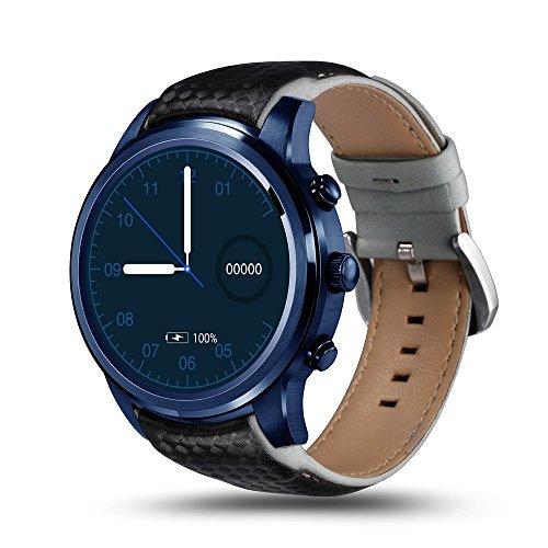 New LEMFO LEM5 Pro : Android 5.1 Smart Watch-Phone, 2GB+16GB, Support SIM Card, GPS, WiFi, Men & Women, Heart Rate Monitor, Wrist Smartwatch. (Blue)