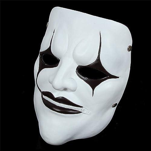 todos los bienes son especiales ILYMJ Máscara de película tema máscara payaso vivo nudo, nudo, nudo, boca con cremallera Máscaras  Envio gratis en todas las ordenes