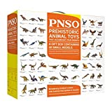 PNSO Dinosaur Toy Gift Box Containing 48 Small Realistic Animal Paleo Art Models