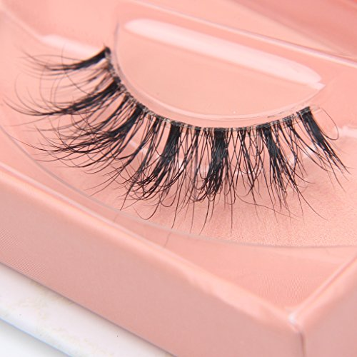 Arimika Clear Band Fluffy 3D Mink False Eyelashes- Reusable Lightweight, Natural Look Invisible Line Lashes Strips