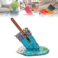 Melting Popsicle Sculpture, Creative Melting Ice Cream Resin Ornaments, Lollipop Melting Resin Ornaments, Summer Beach Cool Statues Home Decor Popsicle Ornament Present (C)