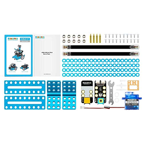 Makeblock Servo Pack Robot Add-on Pack Designed for mBot, 3-in-1 Robot Add-on Pack, 3+ Shapes
