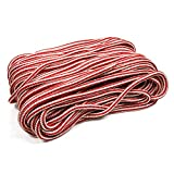 Perantlb Double Braid 3/7' 150 ft 24-Strand Nylon Arborist Climbing Rope, Climbing Equipment Fire Rescue Parachute Rope, Boat Rope, Pre-Shrunk, Heat Stabilized, Red/White