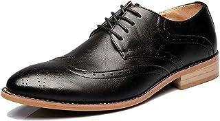 [MUICHO] 通気性最高 メンズ ビジネスシューズ 紳士靴 フォーマル シークレット ウォーキング ウイングチップ カジュアル 冠婚葬祭 ファッション