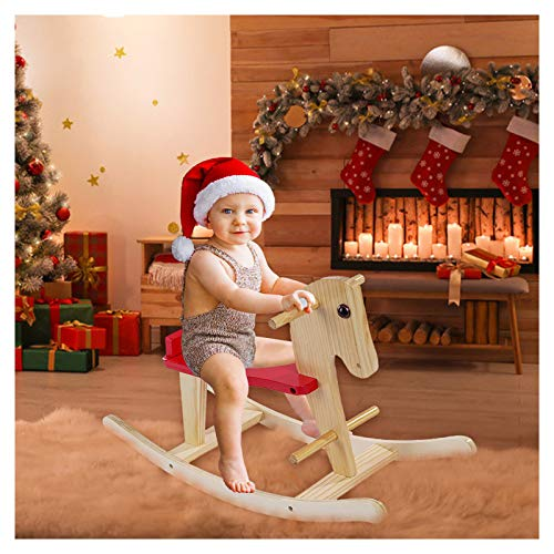 Aiwish Wooden Rocking Horse, Rocking Horse for 2 Year Old Toddler Rocker Toy for Toddlers, Toddler Ride Animal Indoor Outdoor, Boy and Girl Rocking Animal, Infant Ride Toy