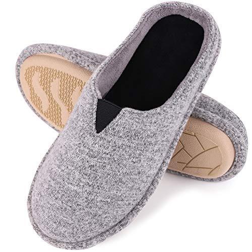 EverFoams Damen Memory Foam Hausschuhe, Pantoffeln mit Jersey Oberfläche, Hellgrau, 40/41 EU