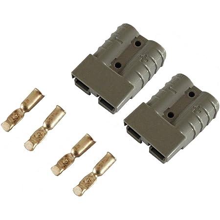 Batterie Stecker 350a 70 Mm2 Grau Set Steckverbinder Für Gabelstapler Kabel Beleuchtung
