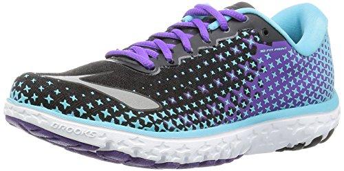 Brooks Damen PureFlow 5 Laufschuhe, Mehrfarbig (schwarz/violett/blau), 37.5 EU