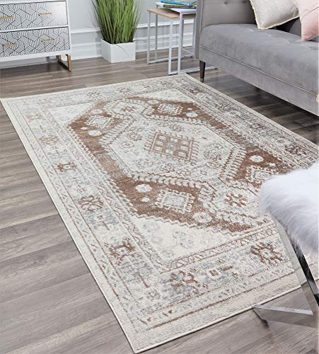 Rugs America Gallagher Collection GL40B Tan Transitional Vintage Area Rug 2'6' x 8'