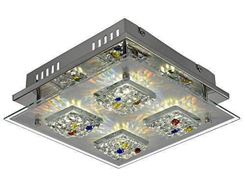 LED 12 Watt Deckenleuchte Kristallglas Deckenlampe Beleuchtung Lampe Leuchte Esto AGIO 9749000-4