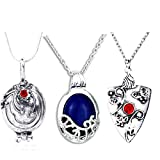 FURONGWANG 3 Pieces The Vampire Diaries Movie Jewelry Katherine, Bonnie and Vervain Pendants Necklace For Fans Girls Women