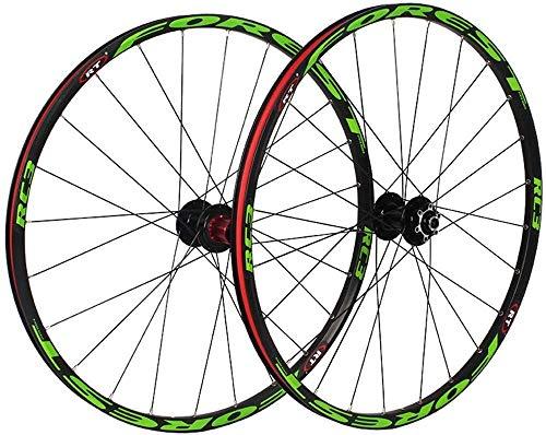 Ruedas De Bicicleta,llantas bicicleta 27,5 pulgadas de la rueda trasera de la bicicleta de ruedas, de doble pared BTT llanta de ruedas de liberación rápida del freno de disco Palin Teniendo bicicleta