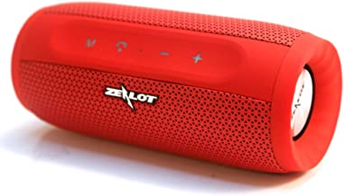 Zealot Portable Bluetooth Speakers 20W S16 MusicUnicorn Wirless Speakers Loud Stereo Sound & Handfree Calling,External Charger 4000mAh Battery Compatible with iPhone, Samsung, Huawei - Red