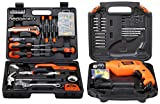 BLACK+DECKER BMT126C Hand Tool Kit (126-Pieces), Orange and Black & BLACK+DECKER HD555KA50 13mm 550 Watt Impact Drill Kit (50 Accessories), Orange