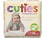 Cuties Complete Care Baby Diaper, Size 3, 16 to 28 lbs, CCC03 - Pack of 34