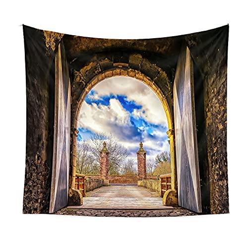 GYNFJK Tapiz de Pared de Bosque de Mandala, Arte de Pared, Decoración del Hogar, Tapiz Multicolor para Estera de Yoga para Dormitorio,130 * 150