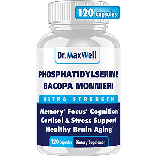 PhosphatidylSerine & Bacopa Monnieri, Better Than Each Alone. Best Phosphatidylserine 300mg: no fillers, Soy Free, 2in1. Clinically Proven Bacopa Extract, Unlike Most Competitors. 120 Capsules USA