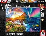 Schmidt Spiele 59908 Lars Stewart, Island, Night and Day, 1.000 Teile Puzzle