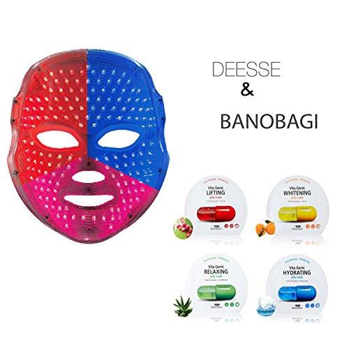 Deesse LED Gesichtsmaske Home Ästhetische Maske, sbt-mllt + banobagi Vita-Genic-Jelly Maske Blatt 80EA (besonderen Geschenk)