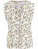 Damen BLUSE Off-White Gemustert, Größe:40, Farbe:09702 OFF-WHITE GEMU