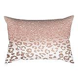 VJGOAL impresión de Moda Rosa-Oro Rosa Cojín Suave Funda de Almohada Rectangular Decoración para el hogar (30cm X 50cm)(30_x_50_cm,Rosa4)