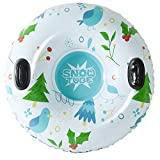 [Newest 2019] Snow Tube - Super Big 47 Inch Inflatable Snow Sled for Kids and Adults - Double Layer Bottom &...