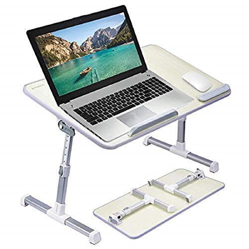 Callas Adjustable Portable Laptop Table, Bed Table, Notebook Stand, Laptop Standing Desk, Portable Standing Table with Foldable Legs, Foldable Lap Tablet Table for Sofa Couch Floor (CA6-Grey)
