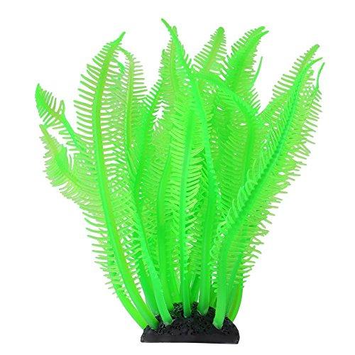 Künstliche Koralle, Silikon Fish Tank Decor Ornament für Aquarium Unterwasser Fische Tank Garten Lands, Grün