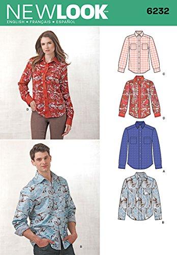 Simplicity Creative MCCALL Pattern Company New Look 6232 Patrones de Costura para