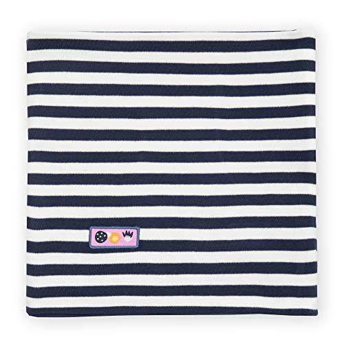Sigikid Mädchen Mini Wende Bio-Baumwolle, OneSize Loopschal, Blau/Streifen, ORI