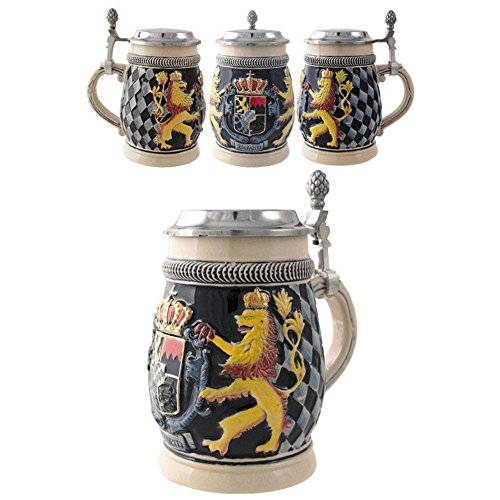 SK Jarra Decorativa de Cerveza Alemana Ceramica Escudo Leones 600 ML.