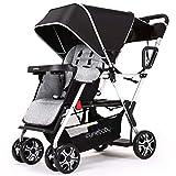 Double Stroller lux Sit N Stand Baby Pushchair Tandem Lightweight Stroller Compact Vista 2kid Pram Twin Toddler Citi Urban Strollers