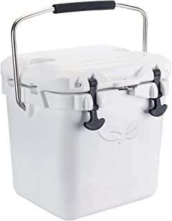 F40C4TMP Cooler, 20 Quart Portable White Ice Chest with Bottle Opener, Insulated Hard Shell Cooler Box 30-Can Capacity, 5-Day Ice Retention for Camping, Fishing, Vocation