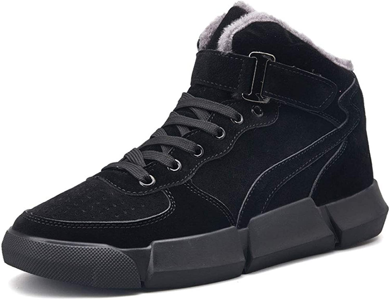 JHHXW Cotton shoes casual shoes sports shoes winter warm men's shoes