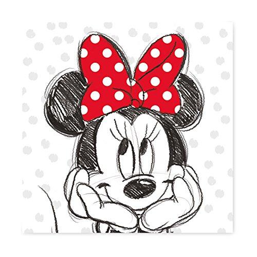 Keilbild Wandbild Leinwand | Disneys Minnie Mouse | 35x35 cm