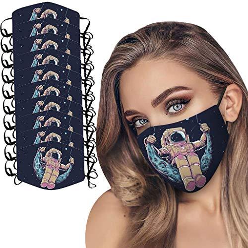 Modaworld Washable 5pcs Adult Washable Reusable Dustproof Anti-Spitting Protective Face Cover Space Mâšk