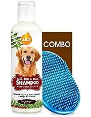 Boltz Anti Tick & Flea Dog Shampoo with Neem,Lemongrass & Tulsi-200 ml with Bath Brush Free   Made in India