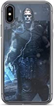 iPhone X/XS Pure Clear Anti-Scratch Shockproof Case Kratos Vs Thor Avengerss Comic Superhero Stan-Lee