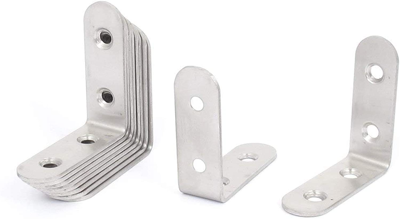 50mmx50mm L Shape Shelf Corner Brace Repair Right Angle Bracket 10pcs